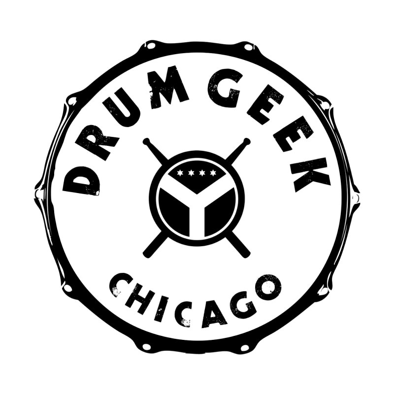 Chicago Drum Geek - Black Logo Men's Tank by Drum Geek Online Shop