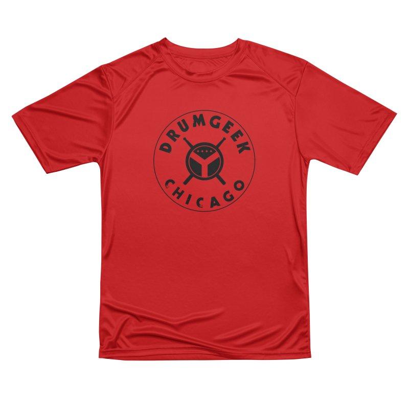 Chicago Drum Geek - Black Logo Men's Performance T-Shirt by Drum Geek Online Shop