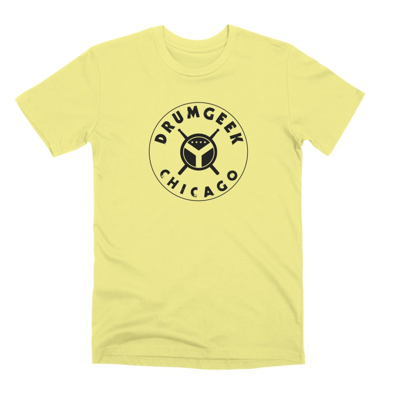 Chicago Drum Geek - Black Logo Men's Premium T-Shirt by Drum Geek Online Shop
