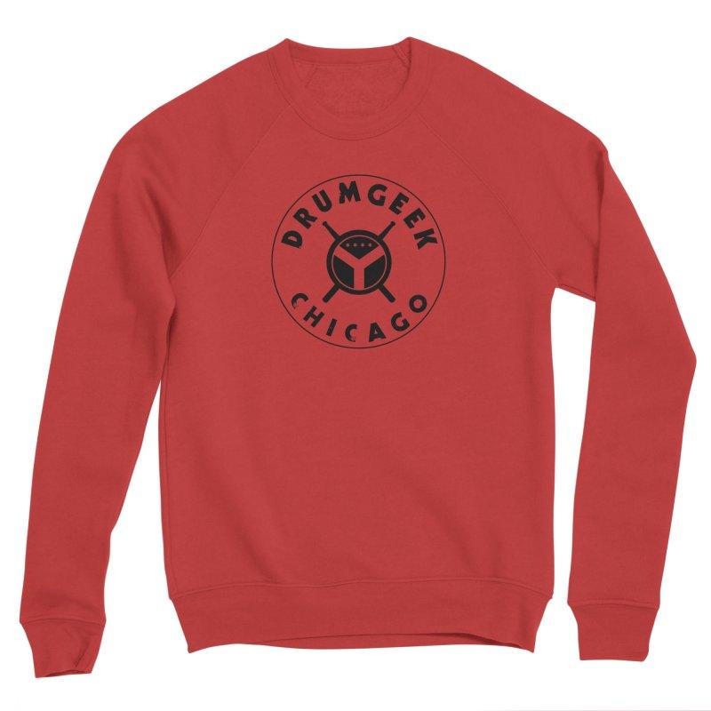 Chicago Drum Geek - Black Logo Women's Sponge Fleece Sweatshirt by Drum Geek Online Shop