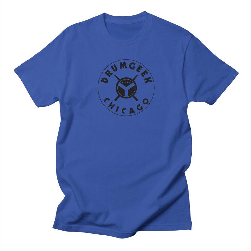 Chicago Drum Geek - Black Logo Women's Regular Unisex T-Shirt by Drum Geek Online Shop