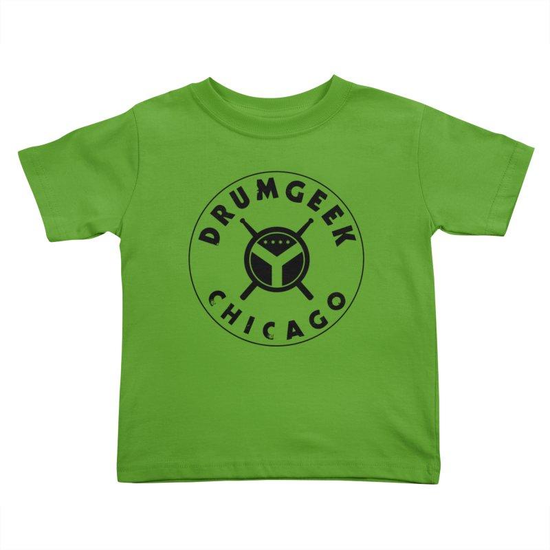 Chicago Drum Geek - Black Logo Kids Toddler T-Shirt by Drum Geek Online Shop