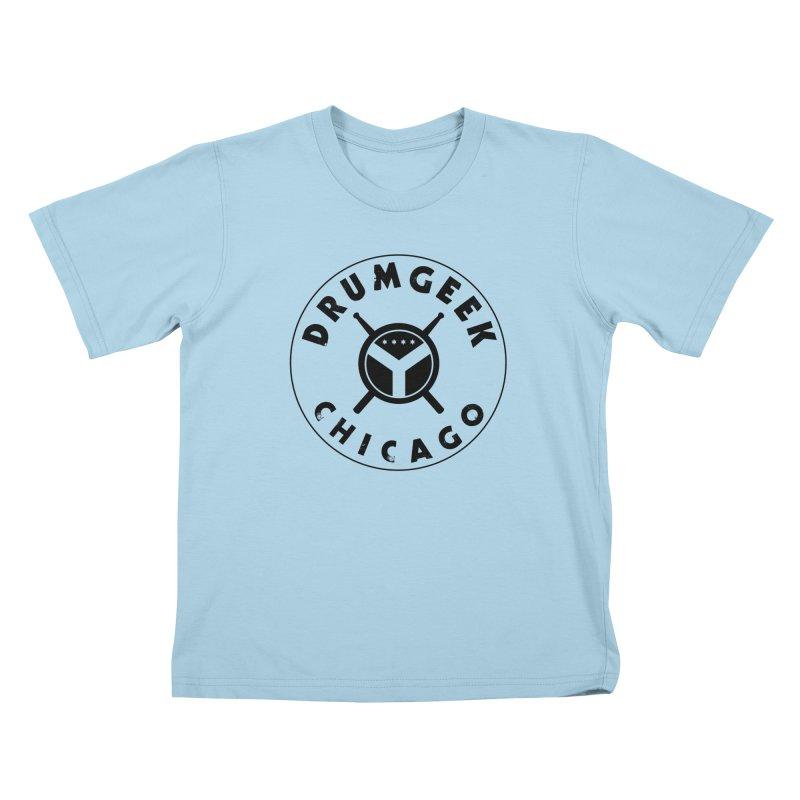 Chicago Drum Geek - Black Logo Kids T-Shirt by Drum Geek Online Shop
