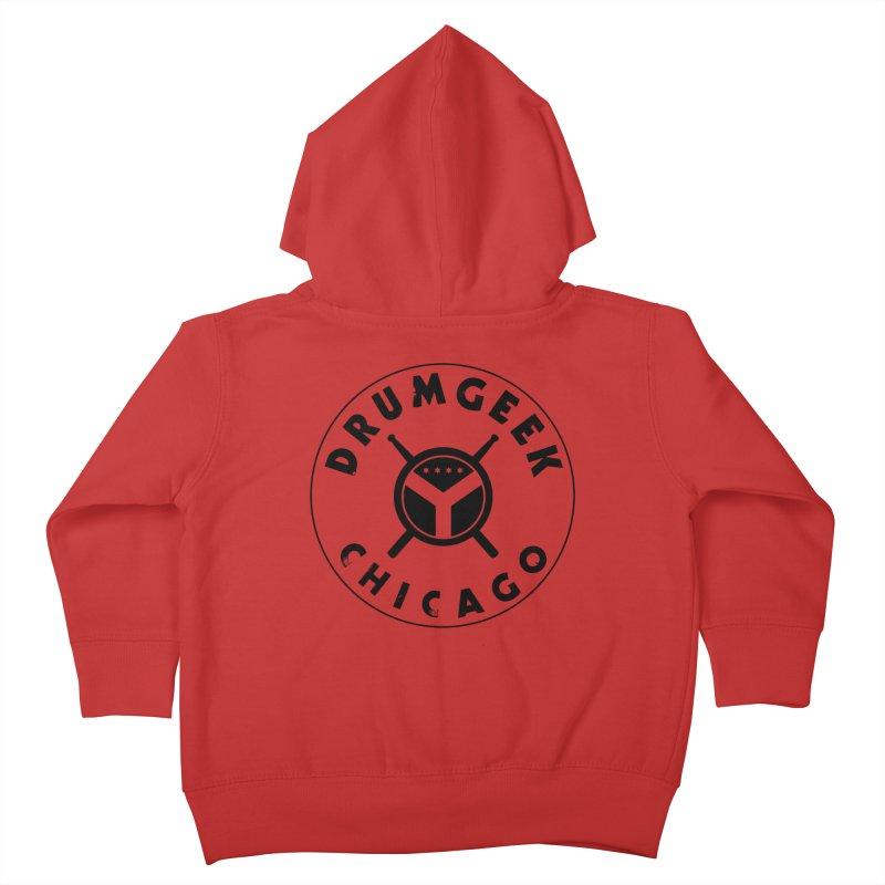 Chicago Drum Geek - Black Logo Kids Toddler Zip-Up Hoody by Drum Geek Online Shop