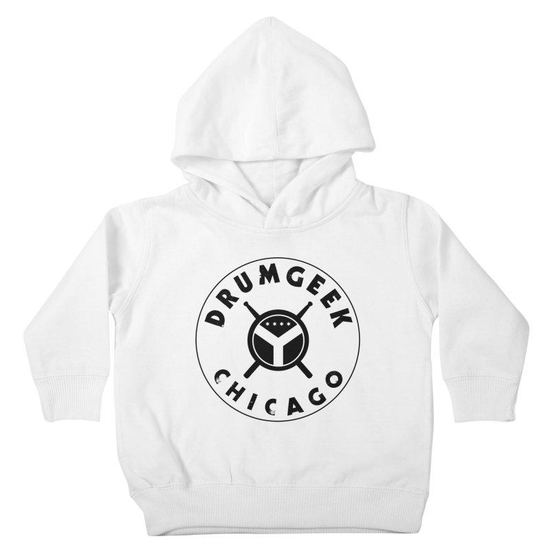 Chicago Drum Geek - Black Logo Kids Toddler Pullover Hoody by Drum Geek Online Shop