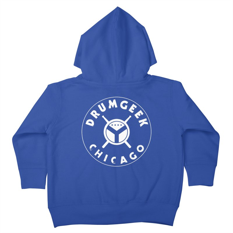 Chicago Drum Geek - White Logo Kids Toddler Zip-Up Hoody by Drum Geek Online Shop