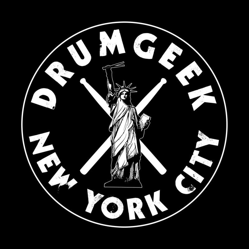 Drum Geek New York (Style 2) - White Logo by Drum Geek Online Shop