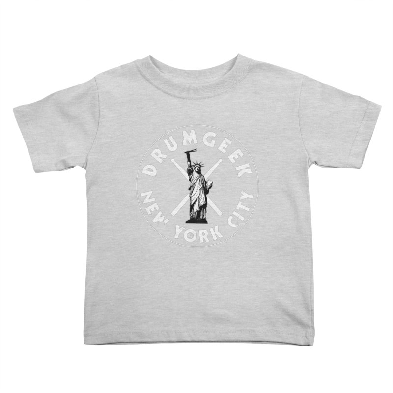Drum Geek New York (Style 2) - White Logo Kids Toddler T-Shirt by Drum Geek Online Shop