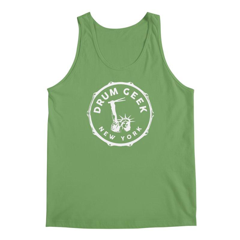 Drum Geek New York - White Logo Men's Tank by Drum Geek Online Shop