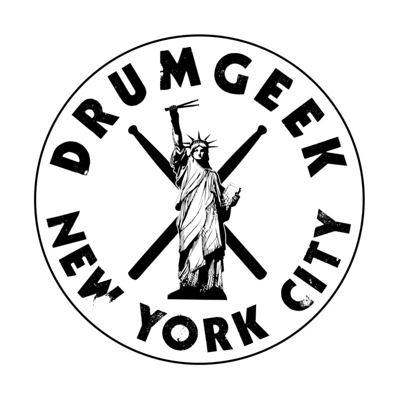 Drum Geek New York (Style 2) - Black Logo by Drum Geek Online Shop