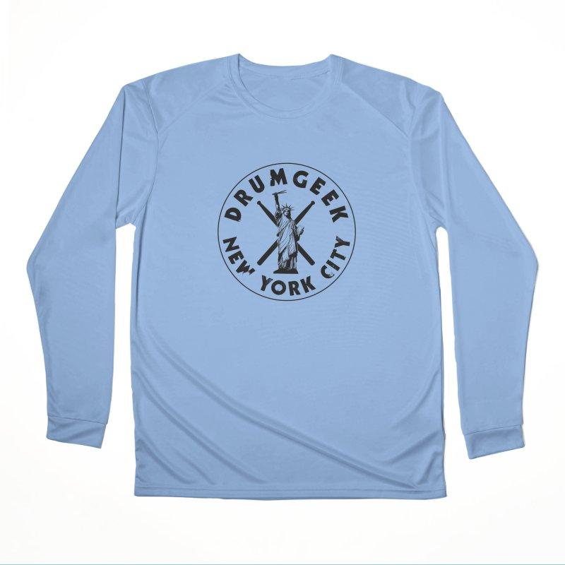 Drum Geek New York (Style 2) - Black Logo Men's Longsleeve T-Shirt by Drum Geek Online Shop