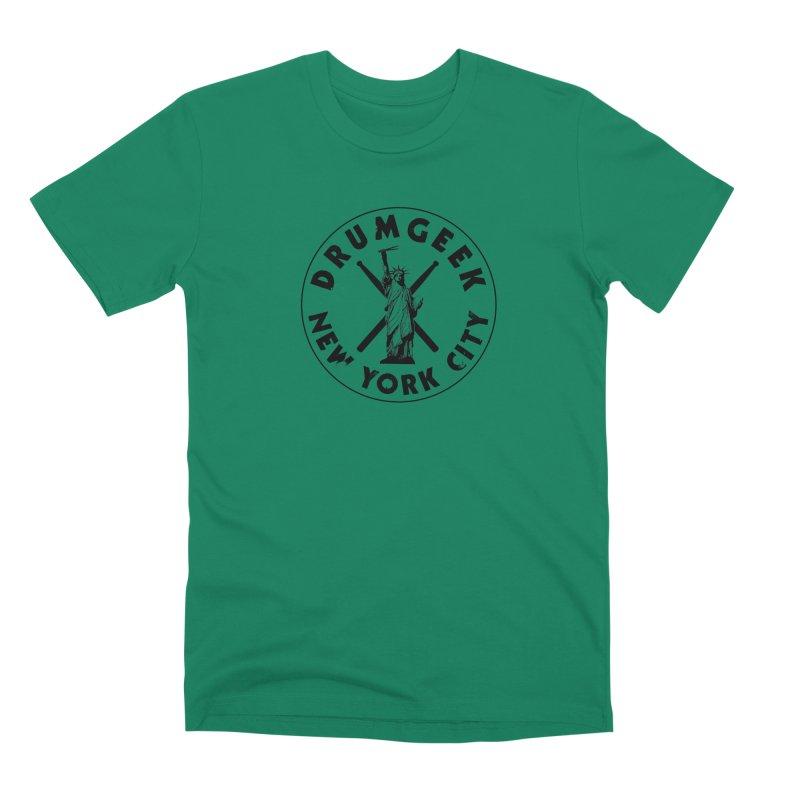 Drum Geek New York (Style 2) - Black Logo Men's Premium T-Shirt by Drum Geek Online Shop