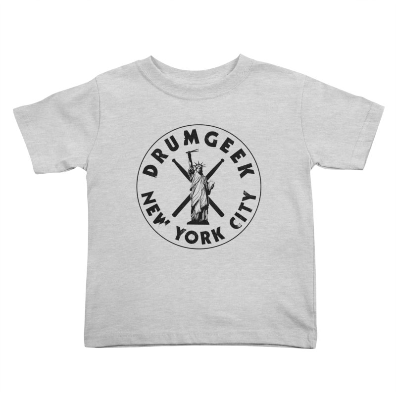 Drum Geek New York (Style 2) - Black Logo Kids Toddler T-Shirt by Drum Geek Online Shop