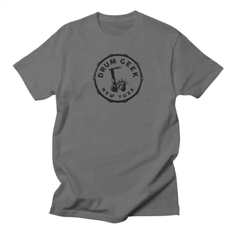 Drum Geek New York - Black Logo Men's T-Shirt by Drum Geek Online Shop