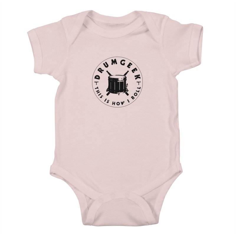 This Is How I Roll (Drumline) - Black Logo Kids Baby Bodysuit by Drum Geek Online Shop