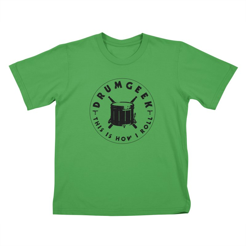 This Is How I Roll (Drumline) - Black Logo Kids T-Shirt by Drum Geek Online Shop