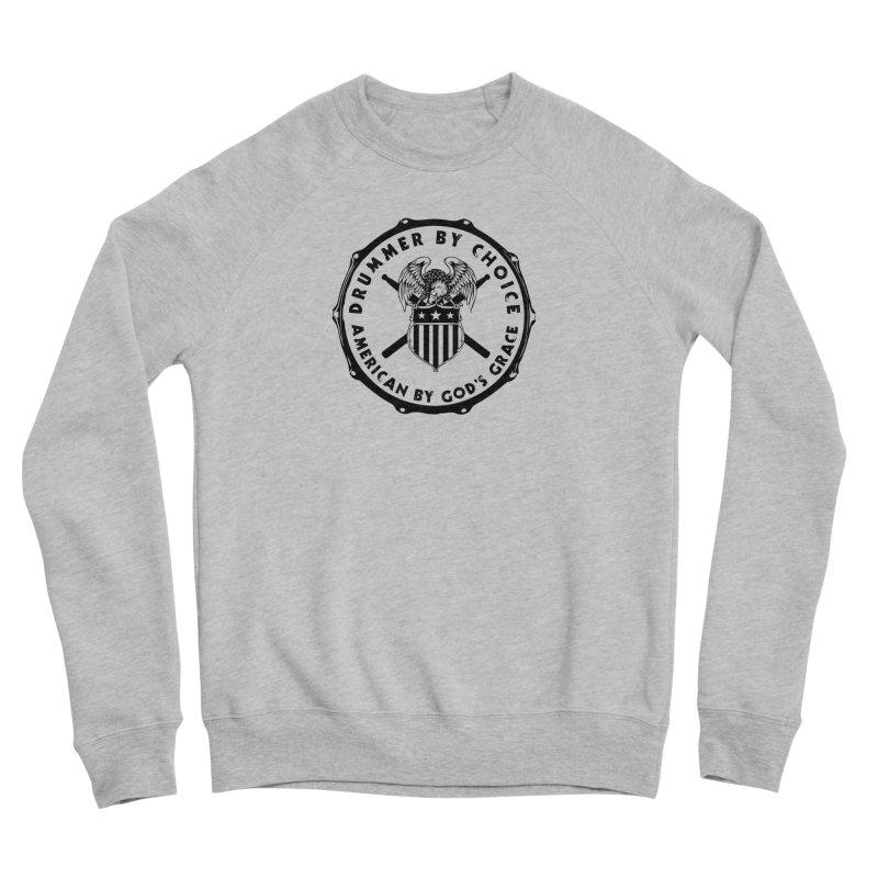 Drummer By Choice (America) - Black Logo Men's Sponge Fleece Sweatshirt by Drum Geek Online Shop