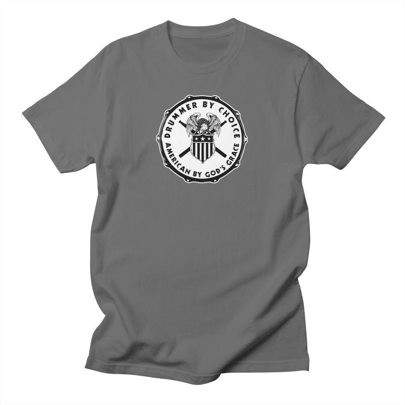 Drummer By Choice (American) - Solid Logo Men's T-Shirt by Drum Geek Online Shop