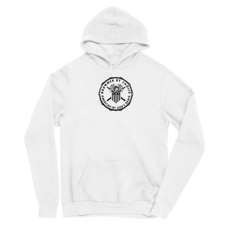 Drummer By Choice (American) - Solid Logo Men's Sponge Fleece Pullover Hoody by Drum Geek Online Shop