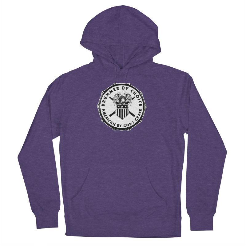 Drummer By Choice (American) - Solid Logo Women's French Terry Pullover Hoody by Drum Geek Online Shop