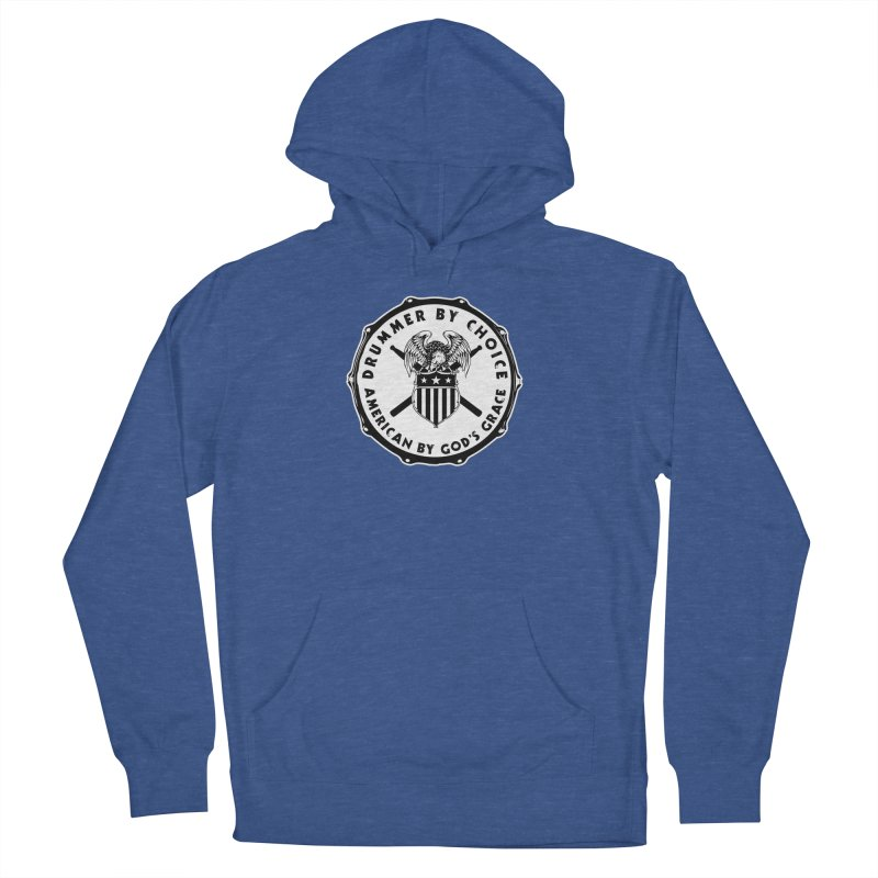 Drummer By Choice (American) - Solid Logo Men's French Terry Pullover Hoody by Drum Geek Online Shop