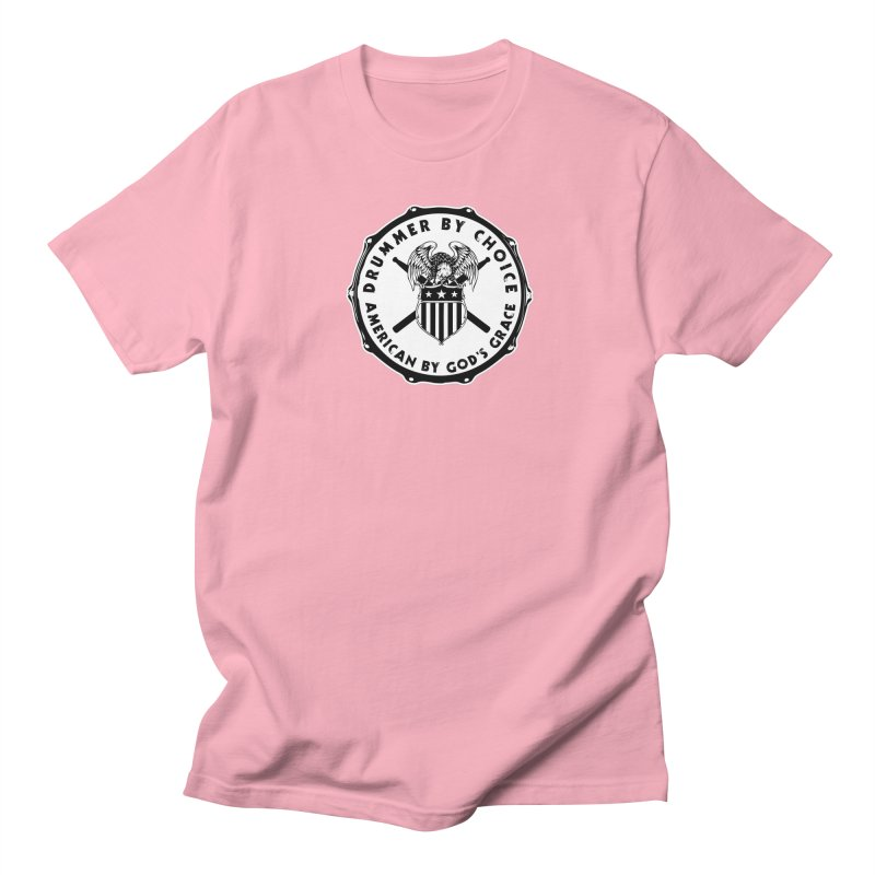 Drummer By Choice (American) - Solid Logo Men's Regular T-Shirt by Drum Geek Online Shop