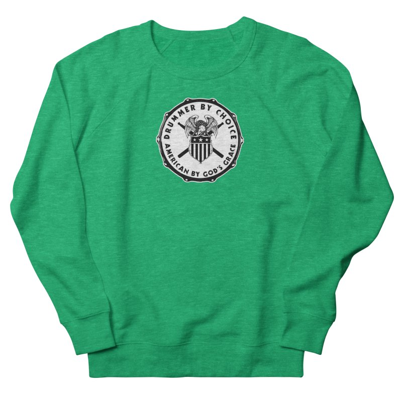 Drummer By Choice (American) - Solid Logo Men's French Terry Sweatshirt by Drum Geek Online Shop