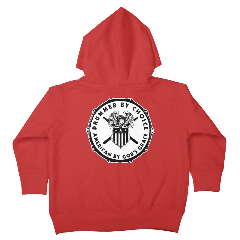 Drummer By Choice (American) - Solid Logo Kids Toddler Zip-Up Hoody by Drum Geek Online Shop