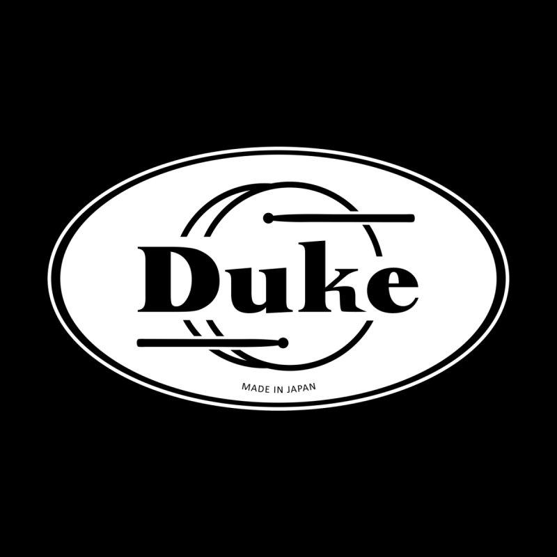 Duke Drums (White Logo) Women's Zip-Up Hoody by Drum Geek Online Shop