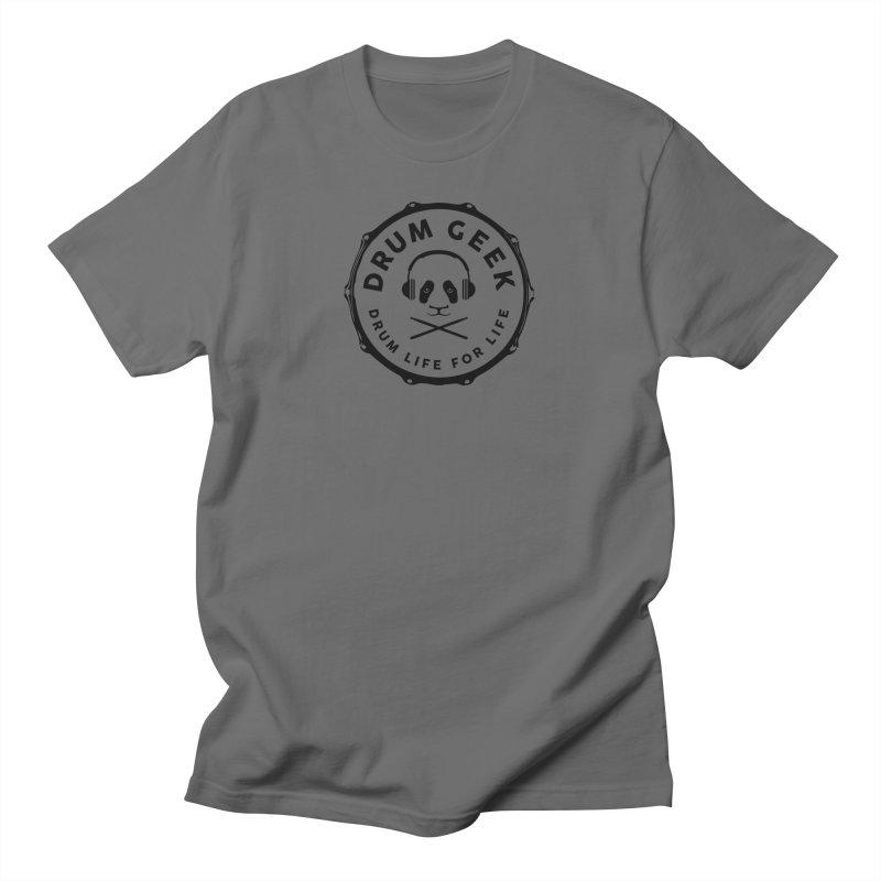 Drum Geek Operation Panda - Black Logo Men's T-Shirt by Drum Geek Online Shop