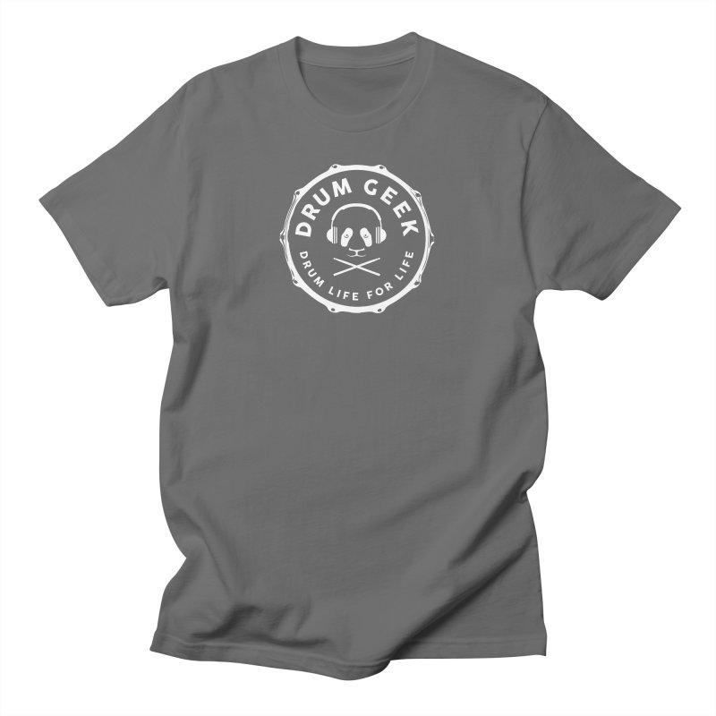 Drum Geek Operation Panda - White Logo Men's T-Shirt by Drum Geek Online Shop