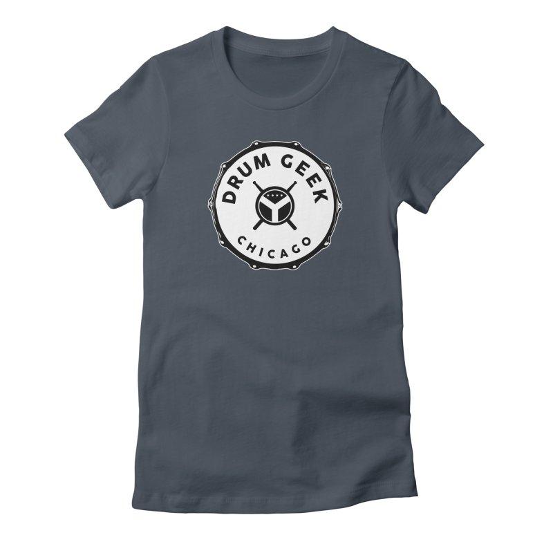 Chicago Drum Geek - Solid Logo Women's T-Shirt by Drum Geek Online Shop