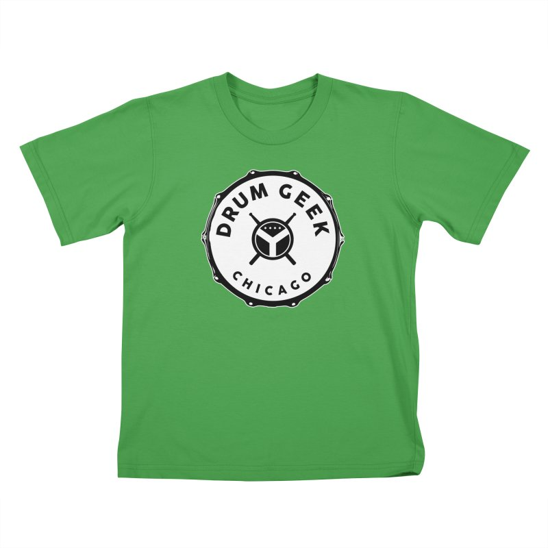 Chicago Drum Geek - Solid Logo Kids T-Shirt by Drum Geek Online Shop