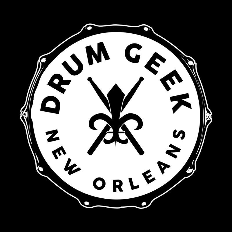 New Orleans Drum Geek - Solid Logo Men's V-Neck by Drum Geek Online Shop