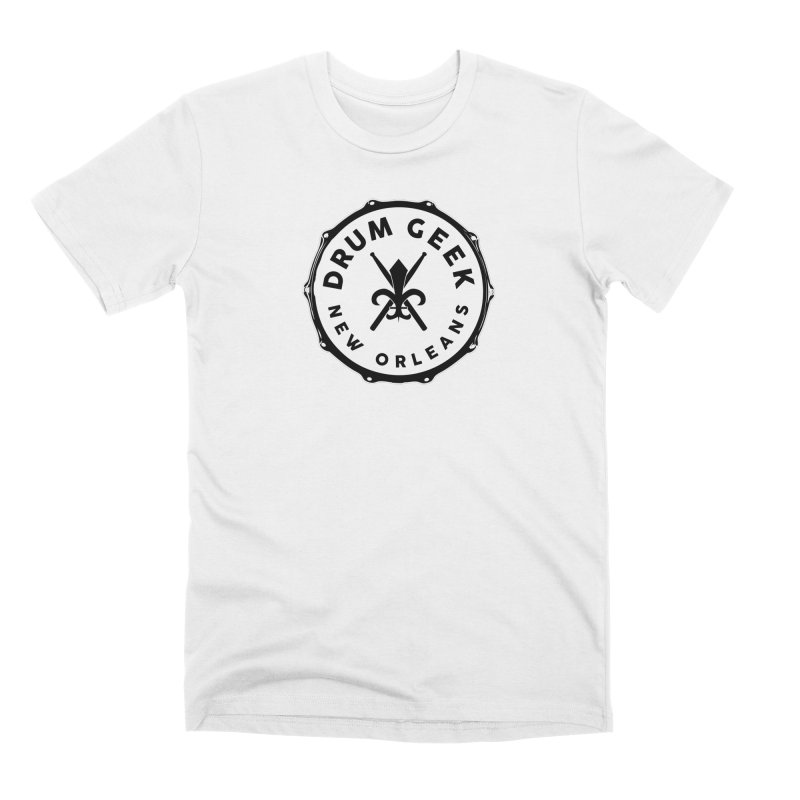 New Orleans Drum Geek - Solid Logo Men's T-Shirt by Drum Geek Online Shop