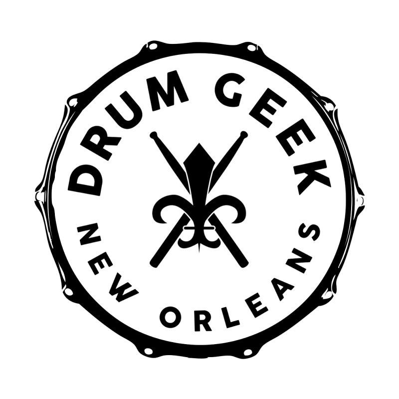 New Orleans Drum Geek - Black Logo Women's Zip-Up Hoody by Drum Geek Online Shop
