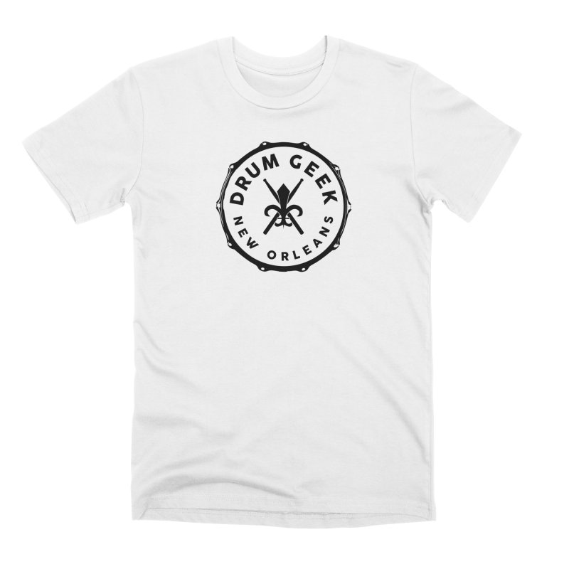 New Orleans Drum Geek - Black Logo Men's T-Shirt by Drum Geek Online Shop