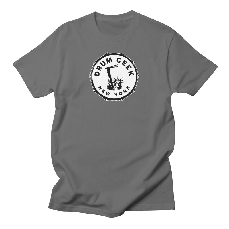 New York Drum Geek - Solid Logo Men's T-Shirt by Drum Geek Online Shop