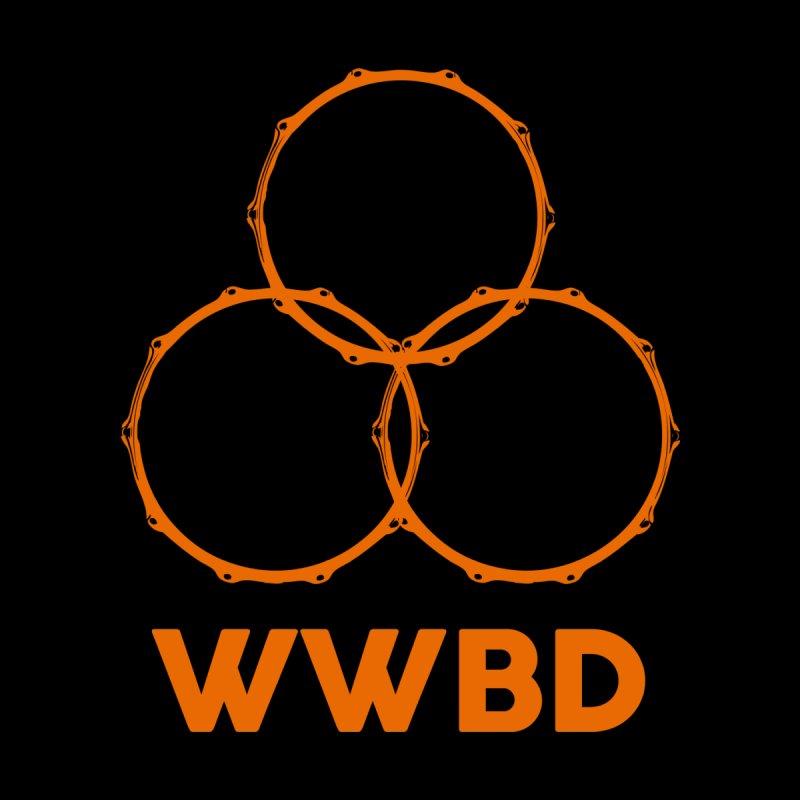 WWBD Orange Logo Men's V-Neck by Drum Geek Online Shop