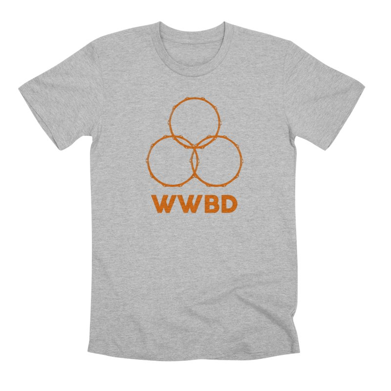 WWBD Orange Logo Men's T-Shirt by Drum Geek Online Shop