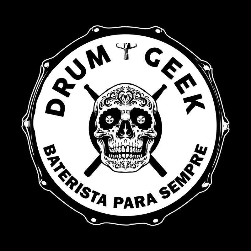 Drum Geek Sugar Skull (Portuguese) - Solid Logo Kids Baby Bodysuit by Drum Geek Online Shop