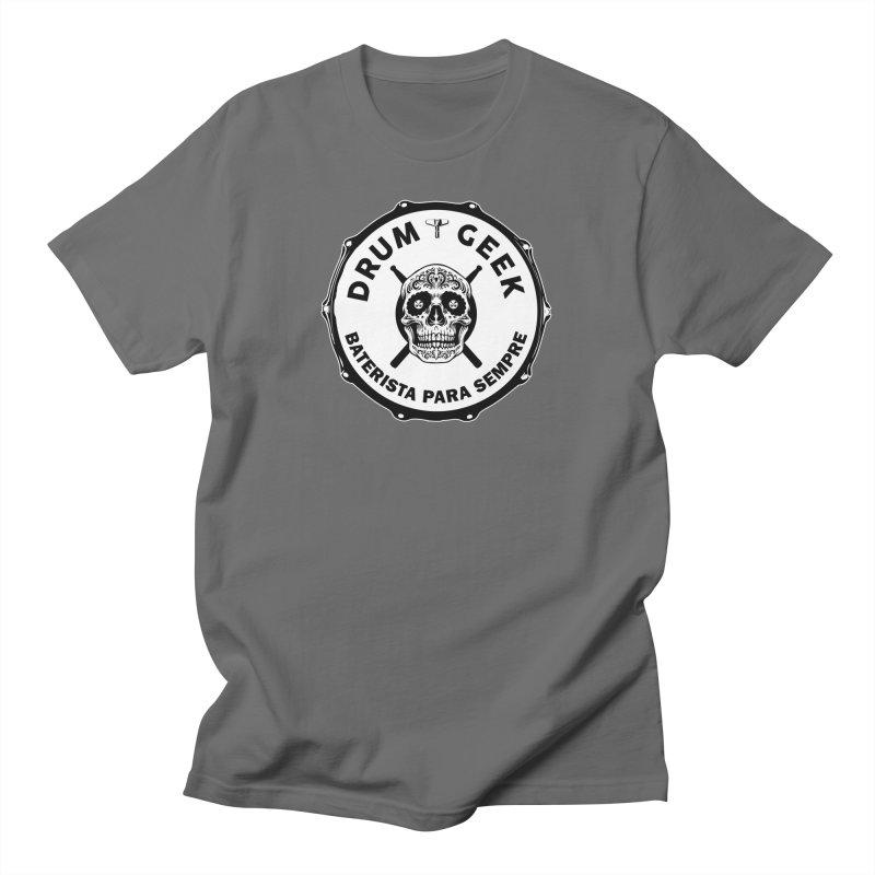 Drum Geek Sugar Skull (Portuguese) - Solid Logo Women's T-Shirt by Drum Geek Online Shop
