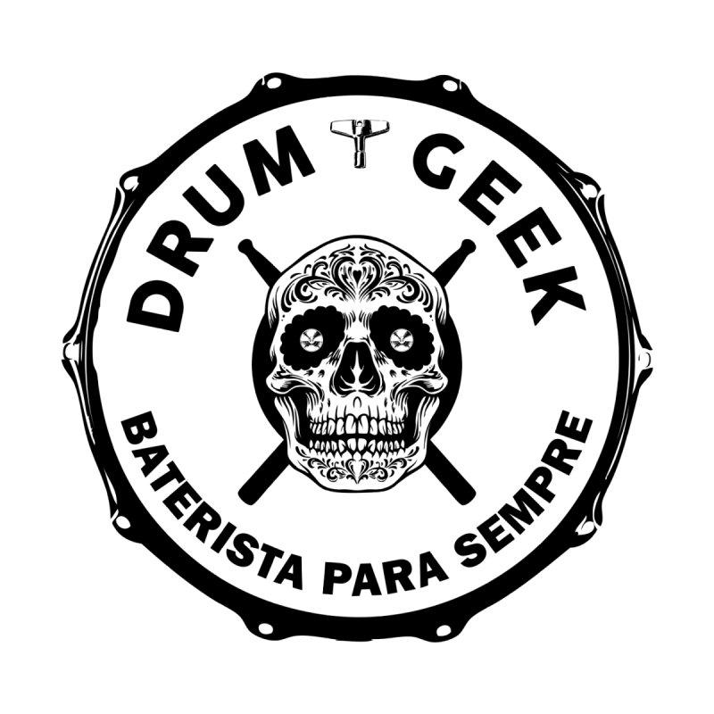Drum Geek Sugar Skull (Portuguese) - Black Logo Men's T-Shirt by Drum Geek Online Shop