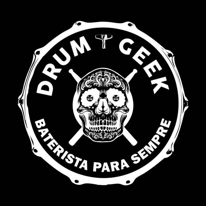 Drum Geek Sugar Skull (Portuguese) - White Logo Kids Baby Bodysuit by Drum Geek Online Shop