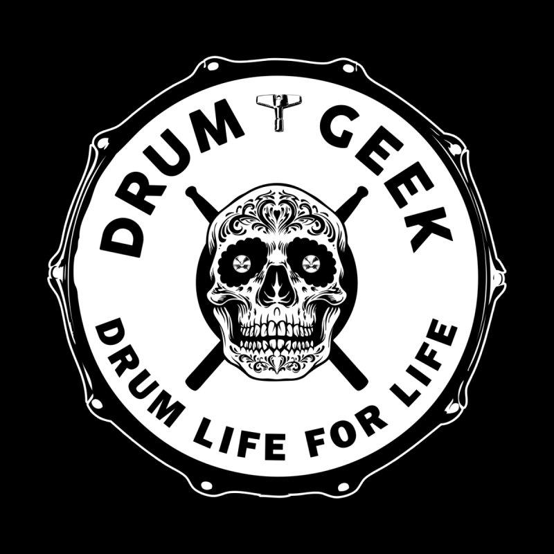 Drum Geek Sugar Skull (English) - Solid Logo Home Shower Curtain by Drum Geek Online Shop