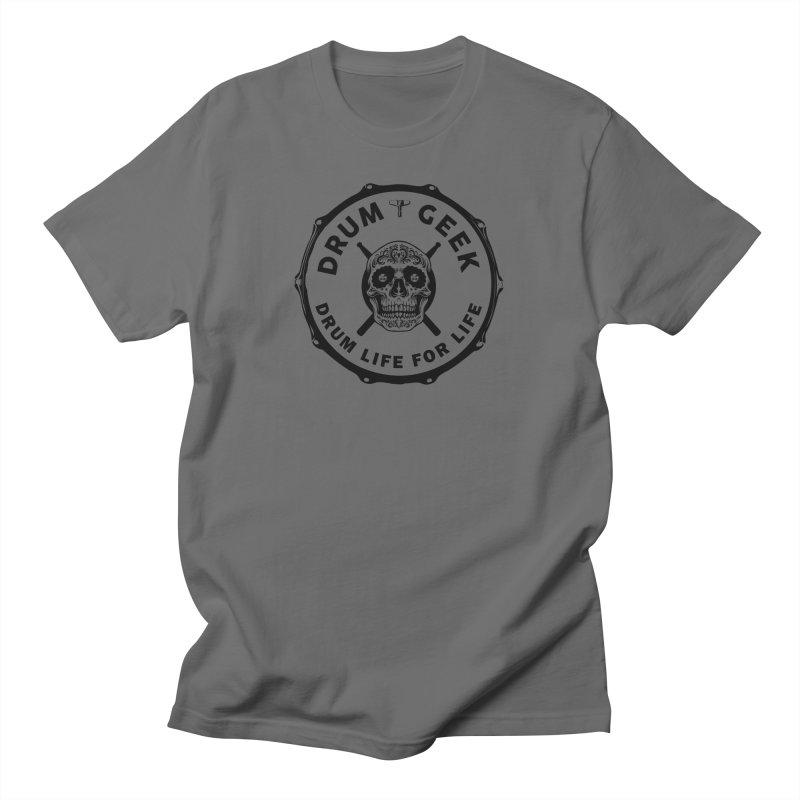 Drum Geek Sugar Skull (English) - Black Logo Men's T-Shirt by Drum Geek Online Shop