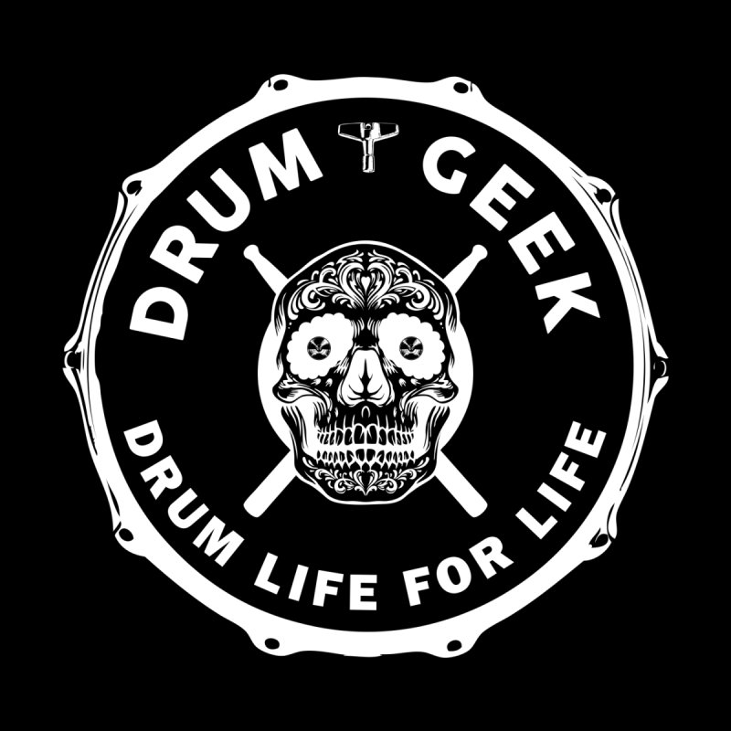 Drum Geek Sugar Skull (English) - White Logo Women's T-Shirt by Drum Geek Online Shop