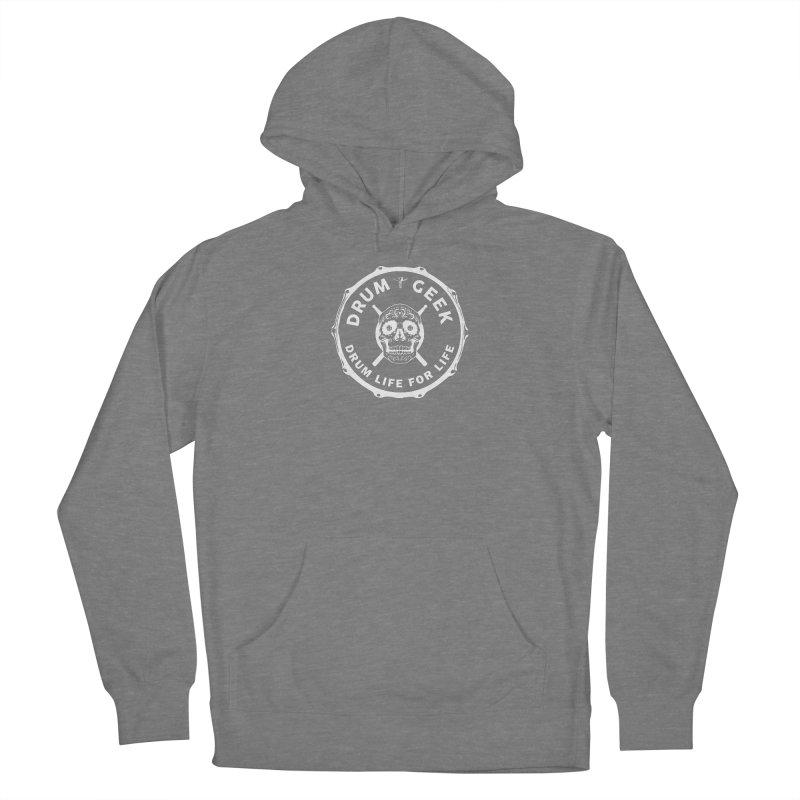 Drum Geek Sugar Skull (English) - White Logo Women's Pullover Hoody by Drum Geek Online Shop