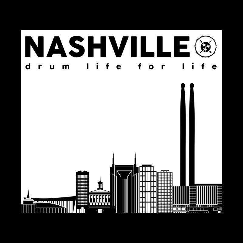 Drum Geek Nashville Skyline - White Logo Kids Baby Bodysuit by Drum Geek Online Shop