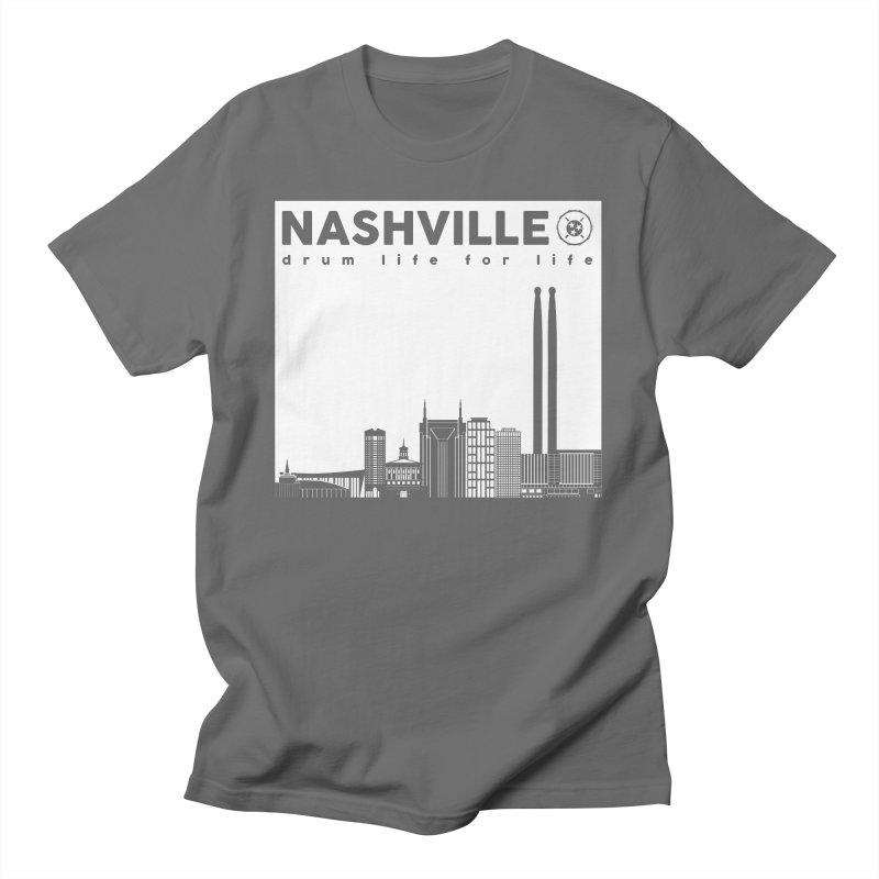 Drum Geek Nashville Skyline - White Logo Women's T-Shirt by Drum Geek Online Shop
